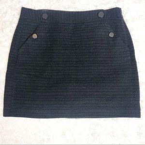 Ann Taylor Loft Tweed A Line Skirt W/Pockets S.10